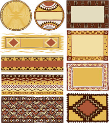 African frames and decoration