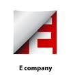 Logo label letter E # Vector