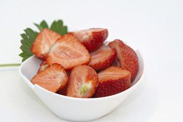 halbe Erdbeeren