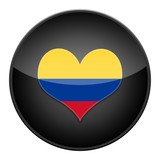 Heart for Colombia icon with flag