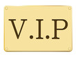 Plaque V.I.P. en or