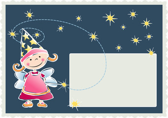 Little fairy invitation card