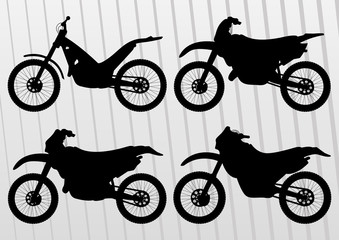 Motocross motorcycle illustration collection