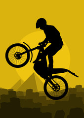 Mountain bike trial rider vector