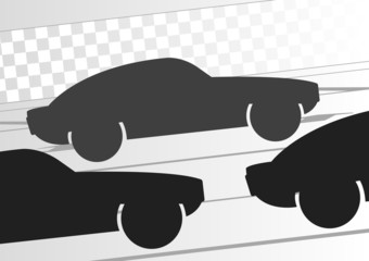 Sport cars in race track background illustration vector