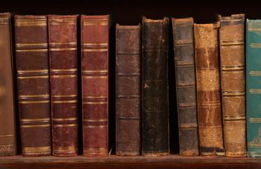 Antique books on shelf
