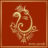 Ganesha, Diwali greetings card, royal Rajasthan, India