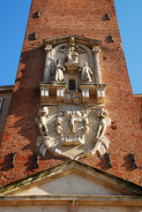 Detail on Basilica Palladiana Clock Tower