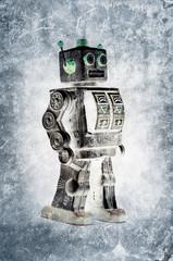 vintage robot print