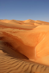 Abstract patterns in the dunes of the Rub al Khali