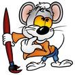 Mouse Painter - Cartoon illustration
