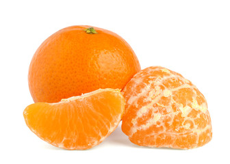 Tangerine isolated on white background