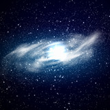 Fototapety Galaxy circle  of stars in space