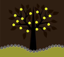 Весеннее цветущее дерево