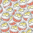 Birthday`s cake seamles background
