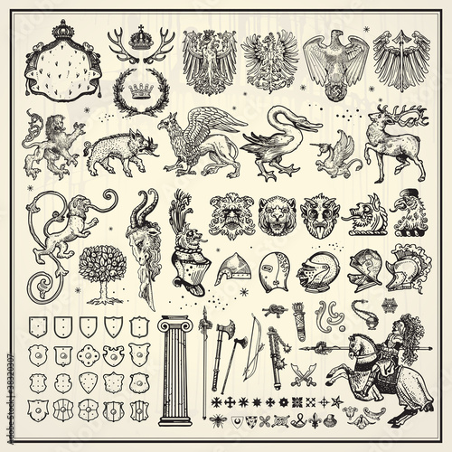 heraldry elements collection