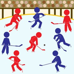 Hockey Teams Icon Set