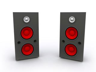 3D rendered Isolated Speaker Set