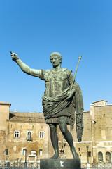 Bronze statue of emperor Caesar Augustus, Italy