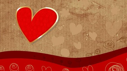 Valentinstag karte 3D