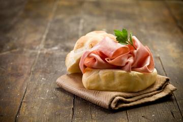 Sandwich with Mortadella Sausage