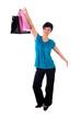 Frau mit Einkaufstüten