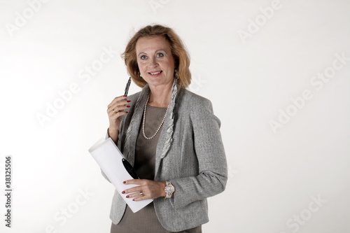 A business woman with 50 plus