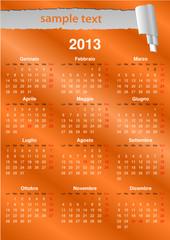 Calendario italiano 2013 (vettoriale)