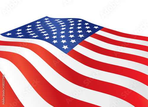 close up of United States of America flag illustration
