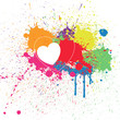 Colorful Heart Splash Background