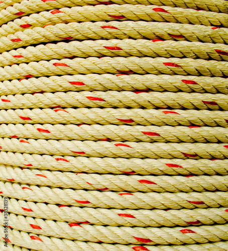 Rope coil makes of the fiber plants  or Jute in Thailand.
