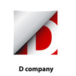 Logo label letter D # Vector