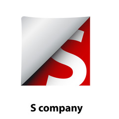 Logo label letter S # Vector
