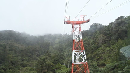overhead cable car in Genting Highlands Malaysia
