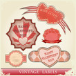 vintage love labels set