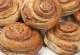 Buns with cinnamon, close-up shot