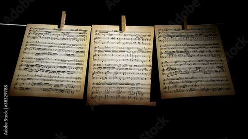 Sheet music, notes, 3 pages