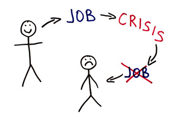 Job and crisis conception illustration