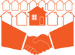 successful business handshake symbol of real estate