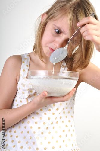 milk porridge disgust