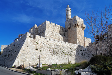 Citadel and Tower of David in Jerusalem, Israel