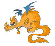 Cartoon Orange Dragon.