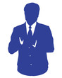 blue business man avatar