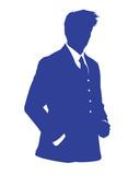 business man blue avatar