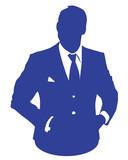 blue business man