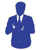blue business man avatar