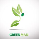 Fototapety Logo green man flying # Vector
