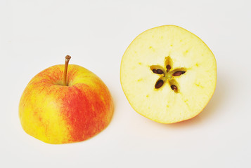 halved apple with seeds star