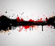 Abstract Ink Splash Background