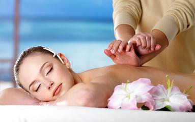 Woman on spa massage